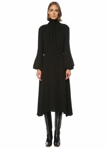 Beymen Collection Beymen Collection  Yakası Bağlamalı Midi Krep Elbise 101523429 Siyah